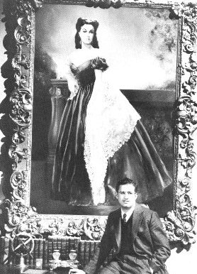 selznick with scarlett portrait